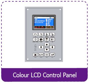 User Friendly Keypad with colour LCD